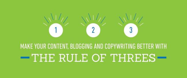 Make Your Content, Blogging and Copywriting Better With The Rule Of Threes - Iterate Marketing | Redacción de contenidos, artículos seleccionados por Eva Sanagustin | Scoop.it