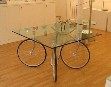 Tables Made With Recycled Wheels Of Bike | Upcycled Objects | Scoop.it