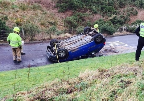 Driver charged after car flips onto roof at Hillend | Today's Edinburgh News | Scoop.it