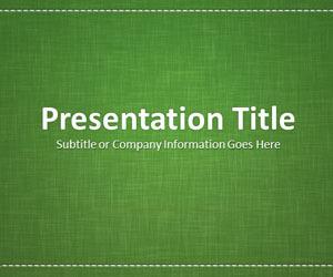 linen green powerpoint template | sustainable d, Presentation templates