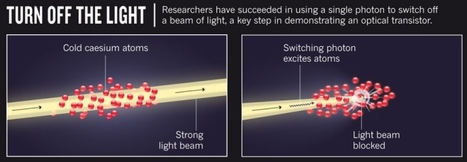 Optical Transistor: Scientists have succeeded in using a single photon to switch off a beam of light | Amazing Science | Scoop.it