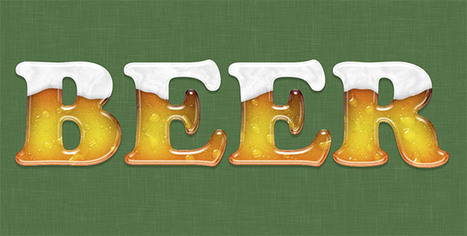 Create a Beer Glass Text Effect in Photoshop   Photoshop Text Effects Journal   Scoop.it