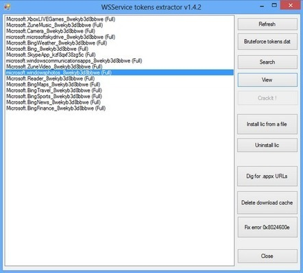 WSService Tokens Extractor v1.4.2 [Windows 8 Application Store Crack] - Software Updates | crack | Scoop.it
