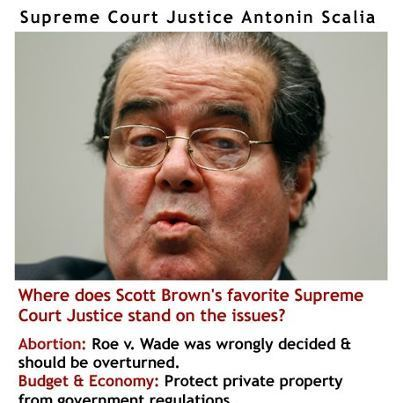 Elizabeth Warren radio ad hits Scott Brown for citing Scalia as his 'modeljustice'   Massachusetts Senate Race 2012   Scoop.it
