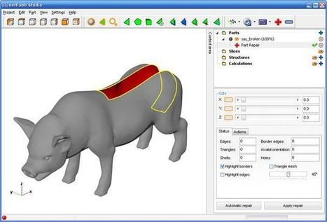 Netfabb Studio Basic, aplicación gratuita y multiplataforma para modelado de objetos 3D | E-Learning, M-Learning | Scoop.it