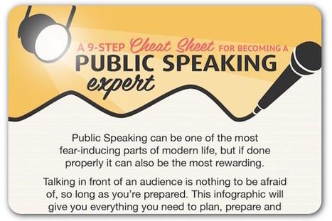 A cheat sheet for public speaking | ProfessionalDevelopment PerfectionnementProfessionnel | Scoop.it