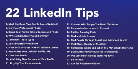 22 Easy Ways You Can Improve Your LinkedIn Profile – ReadThink | Buenas Prácticas TIC y recursos interesantes para utilizar en el aula | Scoop.it