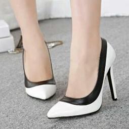 Sepatu Heels Hitam Putih untuk Wanita Tegas Mempesona 403df901a6