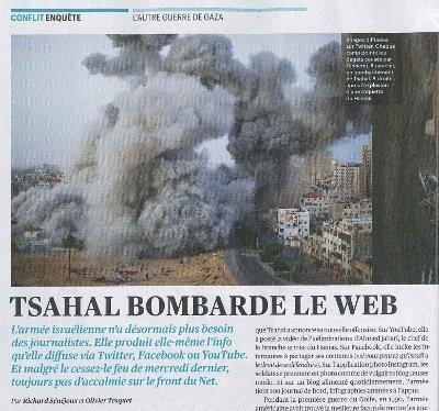 Tsahal bombarde le web | Israel - Palestine: repères et actualité | Scoop.it