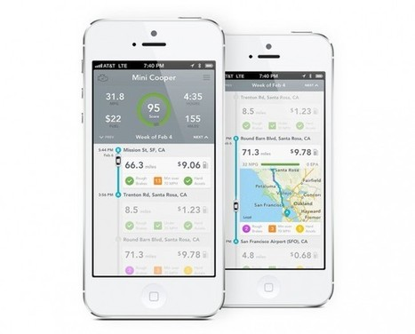 The Beautiful UI Design Behind Automatic, a Driving App That Saves You Gas | SocialMedia_me | Scoop.it