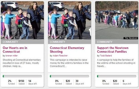 Dozens of Indiegogo Campaigns Spring Up in Response to Connecticut School Shooting | Crowdfunding World | Scoop.it