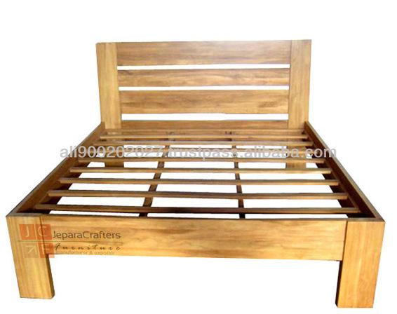 Bedroom Furniture Minimalist Teak Wood Beds Mod