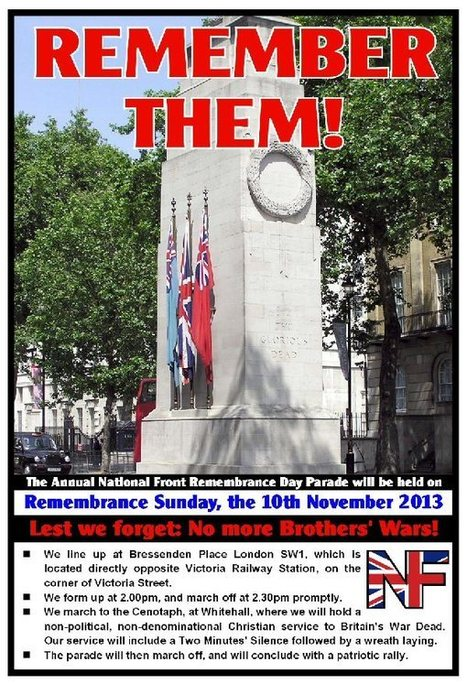 Reminder – Remembrance Day Parade – Sunday, 10th Nov | National Front | Race & Crime UK | Scoop.it