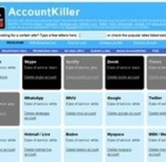 AccountKiller. Effacer vos traces numériques.   TIC et TICE mais... en français   Scoop.it
