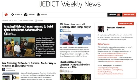 Oct 18 - IJEDICT Weekly News is out | Studying Teaching and Learning | Scoop.it