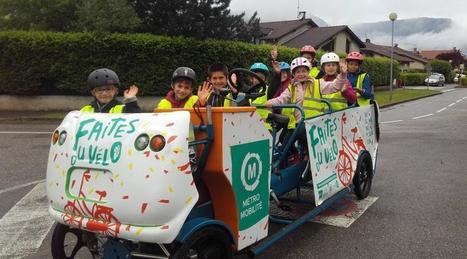 À Louviers, les enfants se rendent à l'école en cyclo-bus | Revue de web de Mon Cher Vélo | Scoop.it