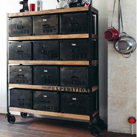 du mobilier industriel et vintage mobilier et. Black Bedroom Furniture Sets. Home Design Ideas