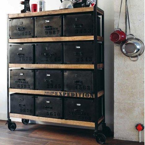 du mobilier industriel et vintage mobilier et. Black Bedroom Furniture Sets. Home Design Ideas