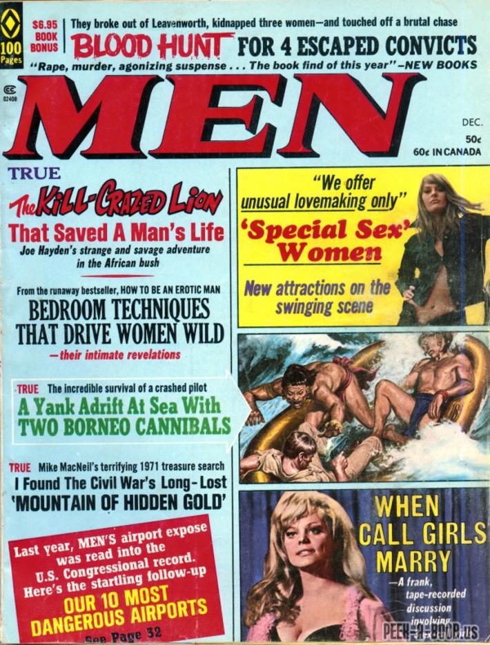 Peek-A-Boob: Men, December 1971   Sex History   Scoop.it