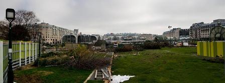 A l'abris des palissades, sans prévenir les riverains, on arrache les arbres , Photographies du projet des Halles | Projet les Halles | Scoop.it