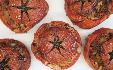 Simplest Greek Stuffed Tomatoes [Vegan, Gluten-Free]   My Vegan recipes   Scoop.it