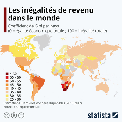 Les inégalités de revenu dans le monde | Statista
