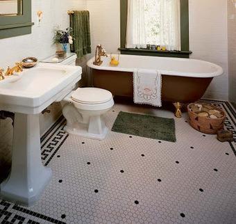 Bonnes Idées de Plancher pour la salle de bain ~ Décor de maison ... | mobilier salle de bain | Scoop.it