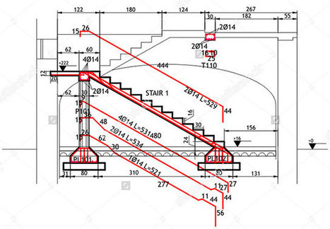 Reinforced Concrete Staircase xls | Reinforced