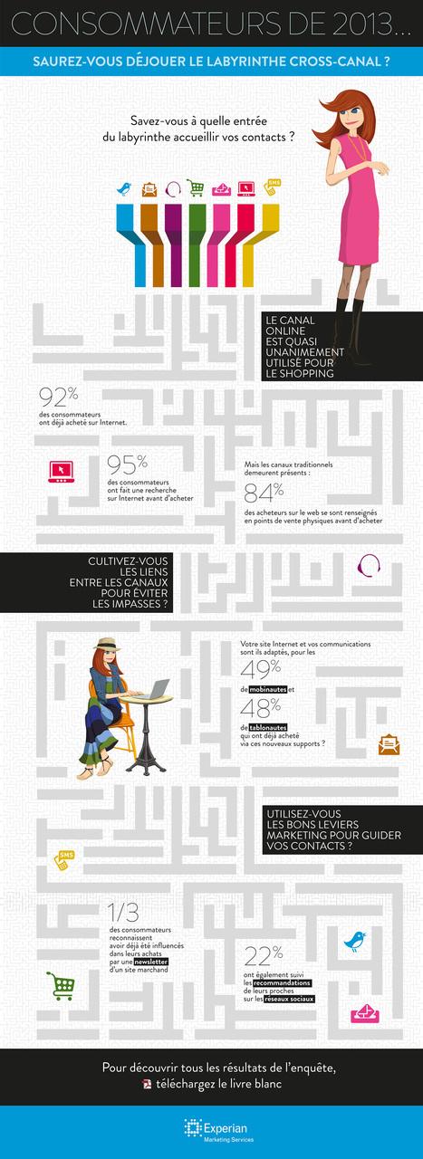 Consommateurs de 2013 : saurez-vous déjouer le labyrinthe du cross-canal ? (infographie)   Responsable Marketing Fidélisation   Scoop.it