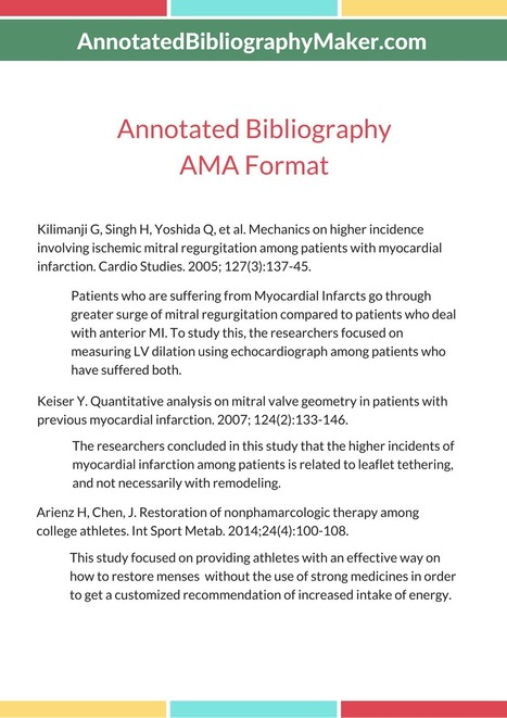 Annotated Bibliography Ama Format Sample In Annotated Bib Maker