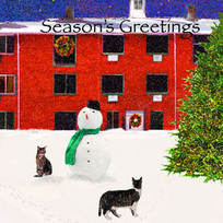 Christmas Cat Ornaments, Cards, Wall Art   Christmas Cat Ornaments and Cards   Scoop.it