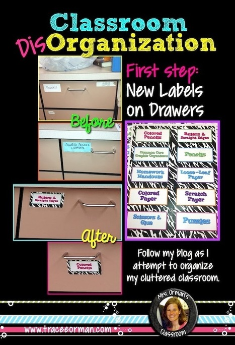 Organizing My Classroom One Step at a Time Using Labels | Clip Art for Commercial Use | Scoop.it