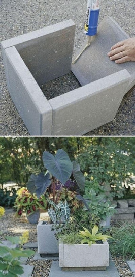 Stone PAVERS become stone PLANTERS | Upcycled Garden Style | Scoop.it