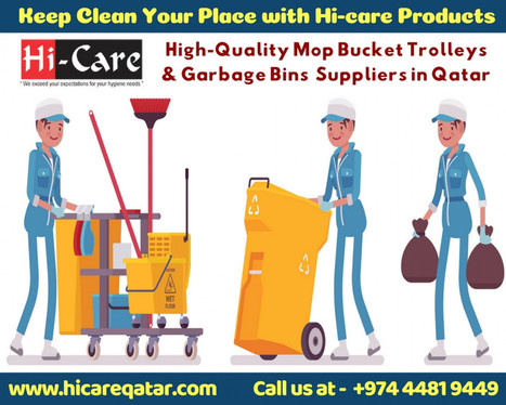 High-Quality Mop Bucket Trolleys & Garbage