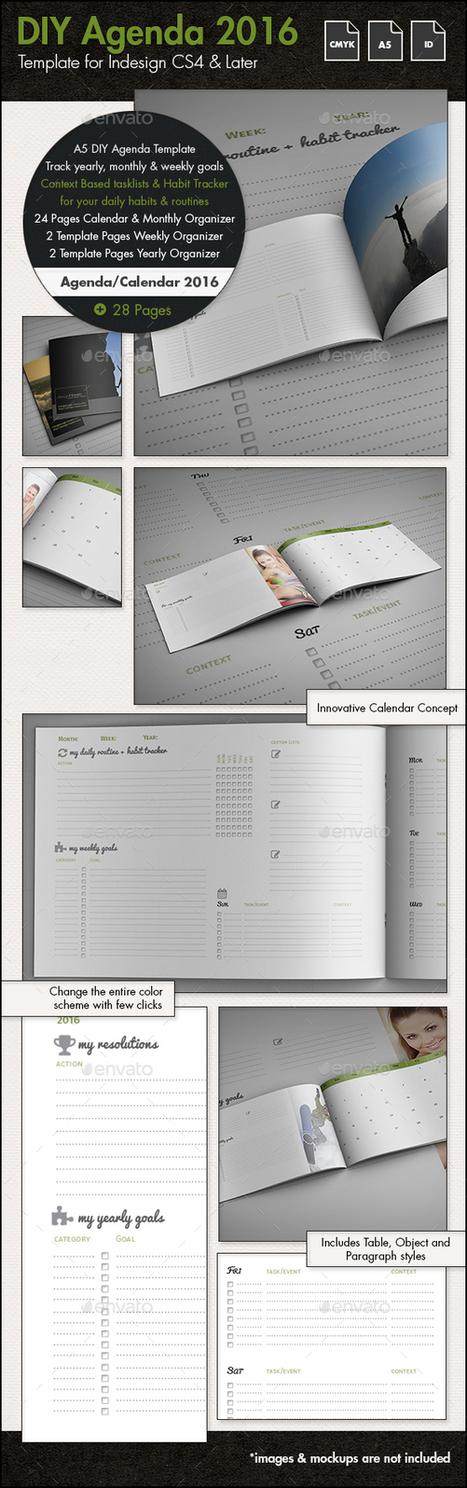 DIY Agenda/Calendar Template for 2016 - A5 | About Design | Scoop.it