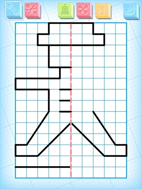 Draw Symmetrical Figures on iPads | Math apps and Education | Scoop.it