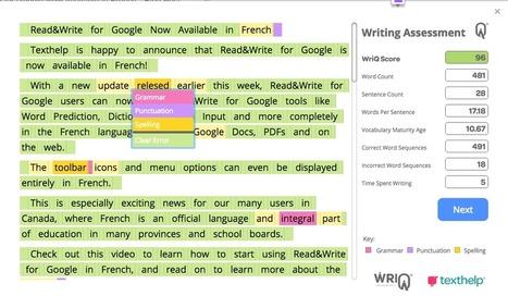 WriQ add on Easily Assess Student Writi