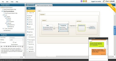 GenMyModel is a Free Online UML Tool with team collaboration and code generators.   Web Programming   Scoop.it