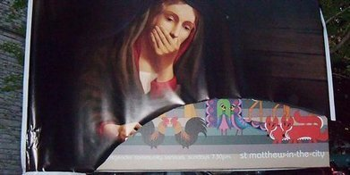 Rogue Catholic Group Vandalizes Anglican Church Billboard | Friendly Atheist | Modern Atheism | Scoop.it