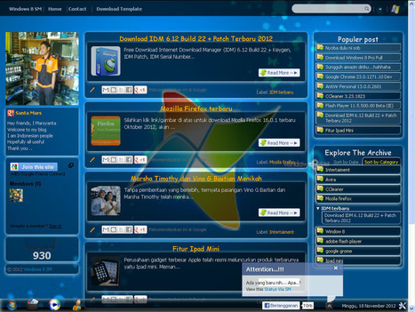Download Template Blogger Mirip OS Windows 8 Fu...