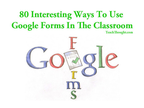 80 Interesting Ways To Use Google Forms In The Classroom | Google e educação | Scoop.it