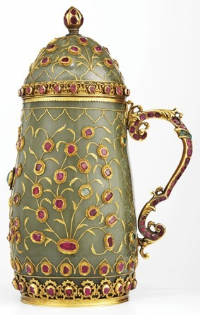 Antiques and the Arts Online - Gold & Gem Studded Jade Ottoman Tankard Acquired By V&A Museum   Islamic Art   Scoop.it