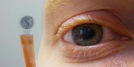 Contact Lens Sports Embedded LCD Display | VIM | Scoop.it