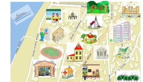 Les lieux de la ville. Vocabulaire: activités interactives | Français Langue étrangère | Scoop.it