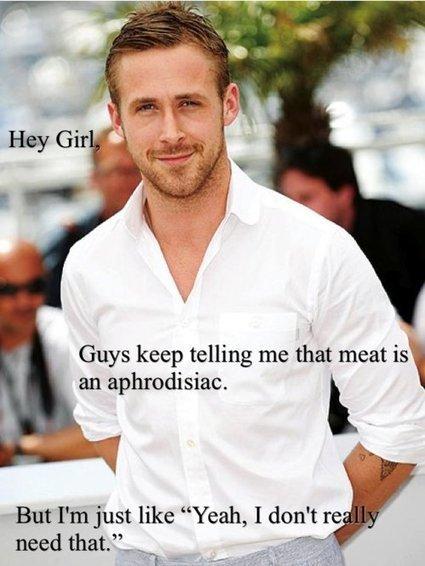 Vegan Ryan Gosling | Just For Fun | Scoop.it