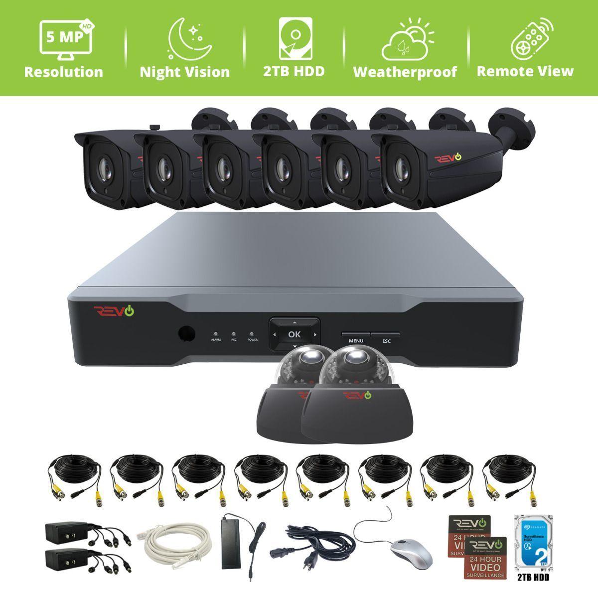 Revo America CCTV Bullet Surveillance Camera 600TVL IR 80ft NightVision