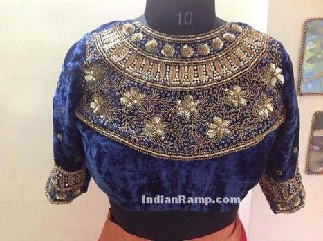 Heavy Work Maharani Wedding Blouse Designs 2017, Indian Fashion | Indian Fashion Updates | Scoop.it