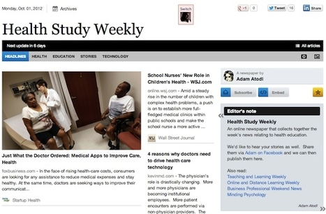 Oct 1 - Health Study Weekly is out | Health Studies Updates | Scoop.it