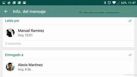 Cómo saber quien ha leído los mensajes en un grupo de WhatsApp | MLKtoSCL | Scoop.it