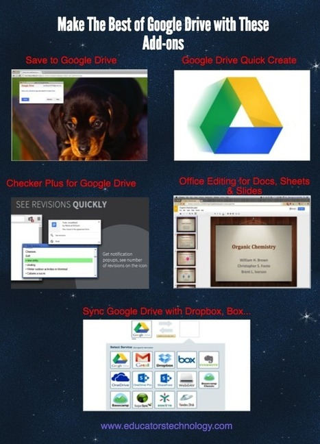 Make The Best of Google Drive with These 5 Add-ons ~ Educational Technology and Mobile Learning | Sheila's Edtech | Scoop.it